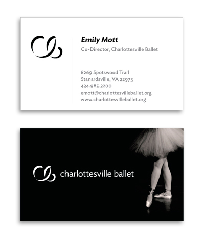 Charlottesville Ballet Business Cards