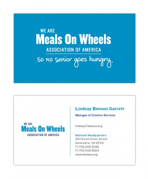Meals On Wheels business cards