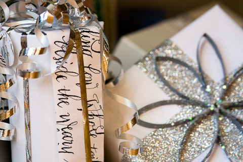 Calligraphic Gift Wrap by Lindsay Garrett
