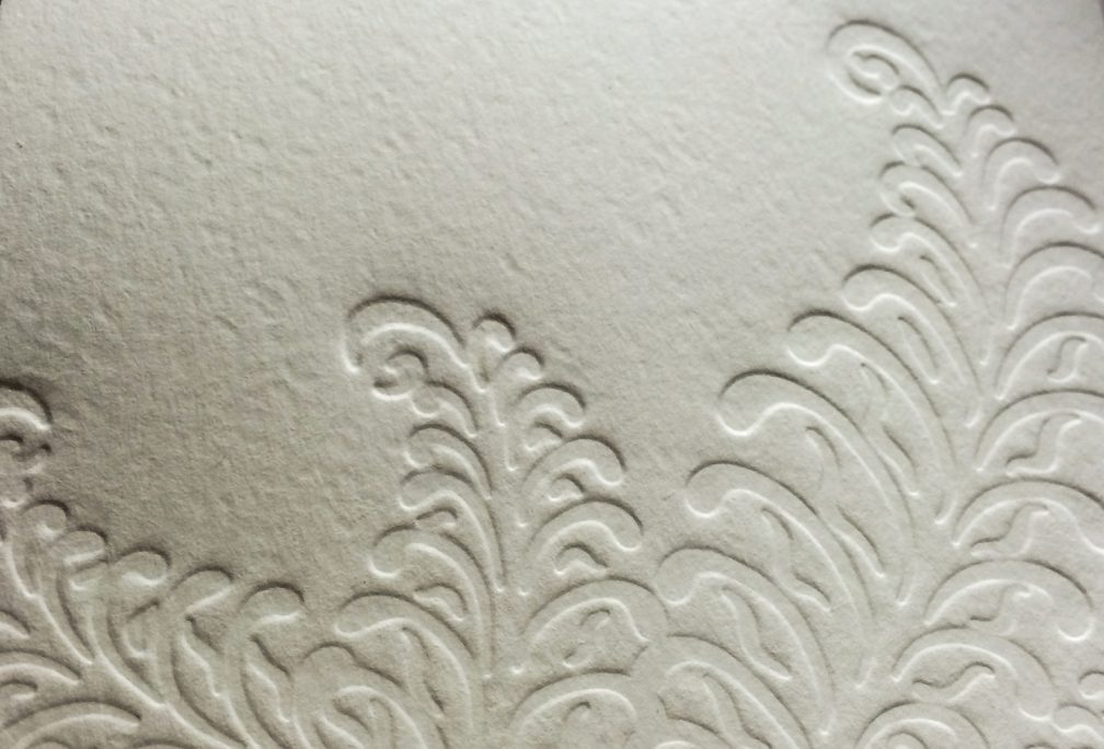 Letterpressed ferns by Lindsay Benson Garrett