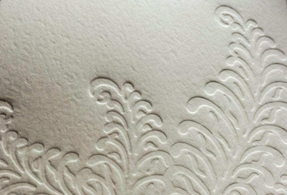 Letterpressed ferns by Lindsay Benson Garrett