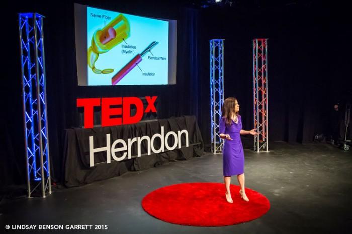 Stephanie Butler at TEDx Herndon 2015, photo by Lindsay Benson Garrett
