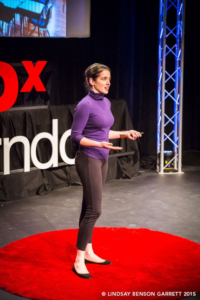 Anisa Baldwin Metzger at TEDx Herndon 2015, photo by Lindsay Benson Garrett