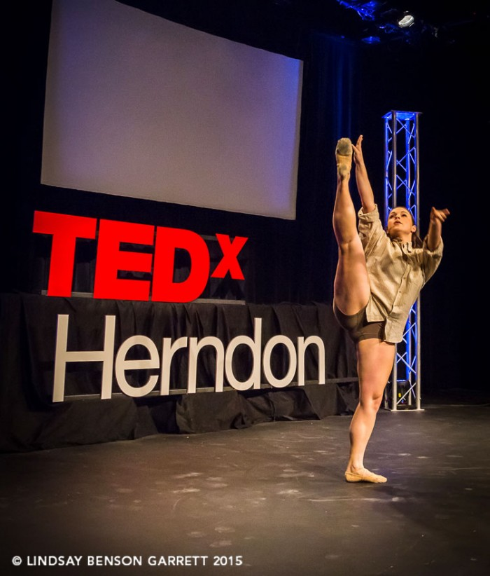 Stephanie Dorrycott at TEDx Herndon 2015, photo by Lindsay Benson Garrett