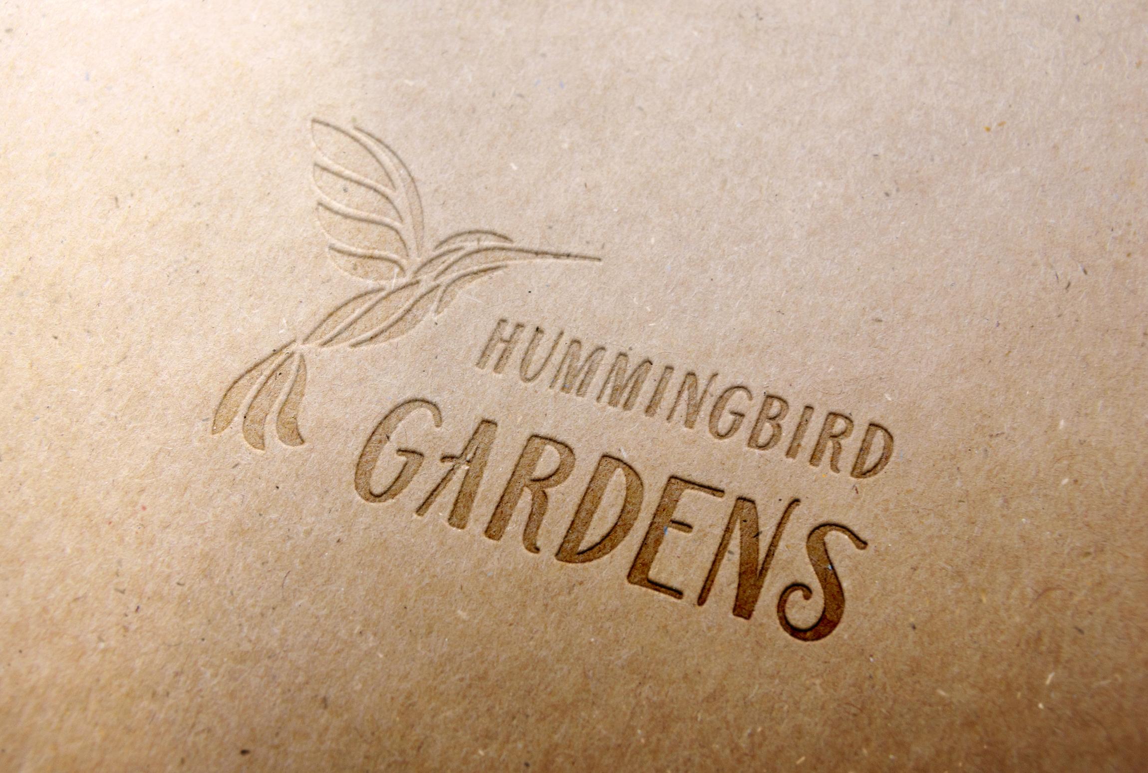 Hummingbird Gardens logo paper